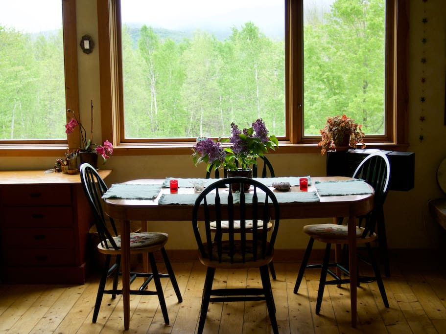 one of 3 dining areas - this one overlooks the mountains