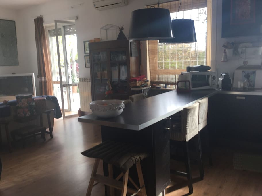 Lliving room with kitchenette