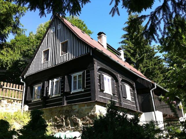 Krásná Lípa / tradiční ubytování v roubence