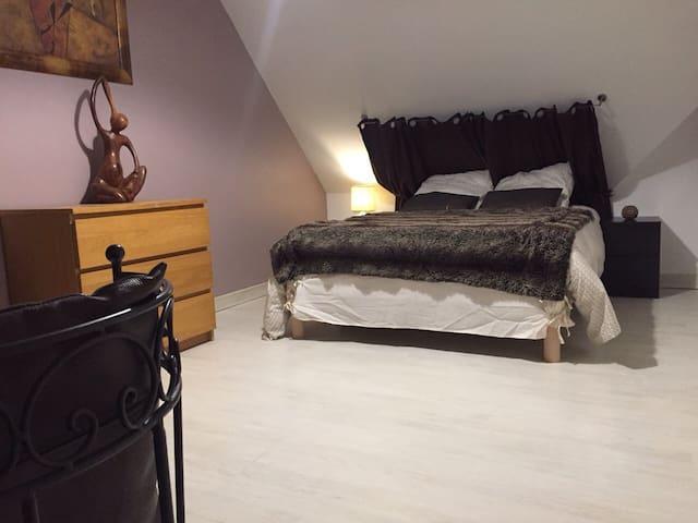 Chambre calme et spacieuse 15 m2 - Séné - Hus