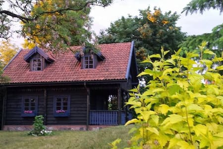 Mazury - new house with view on the lake. - Casa
