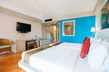 Comfortable room with pool access
