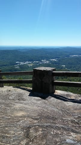 View of Clayton from Black Rock Mountain State Park just 10 minutes away.