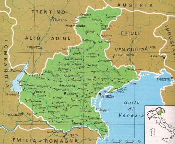 map of veneto region