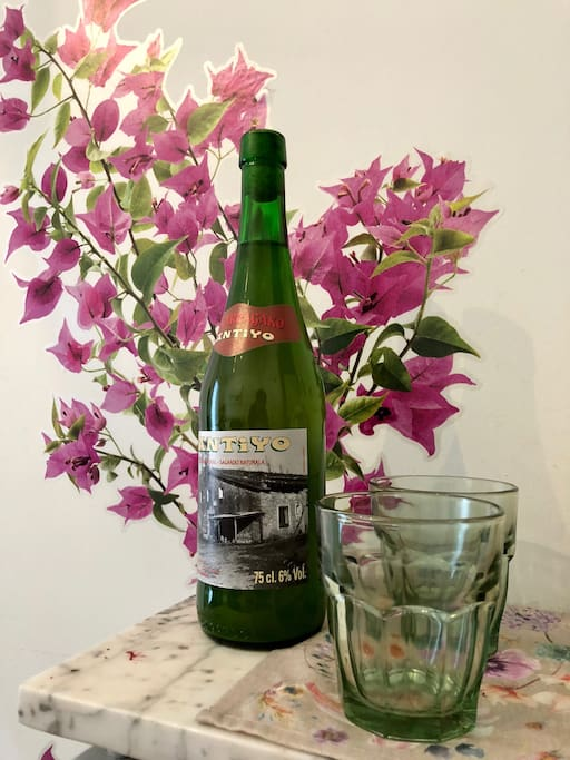 Complimentary bottle of cider to start your experience of San Sebastian and a small relax after your travel!