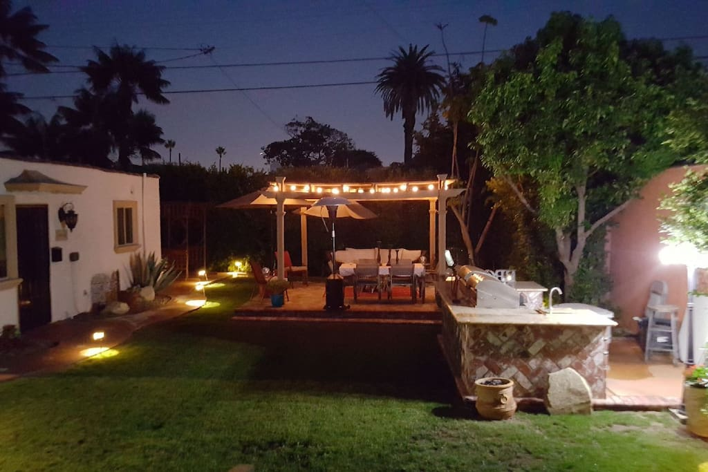 Your view at night from the casita