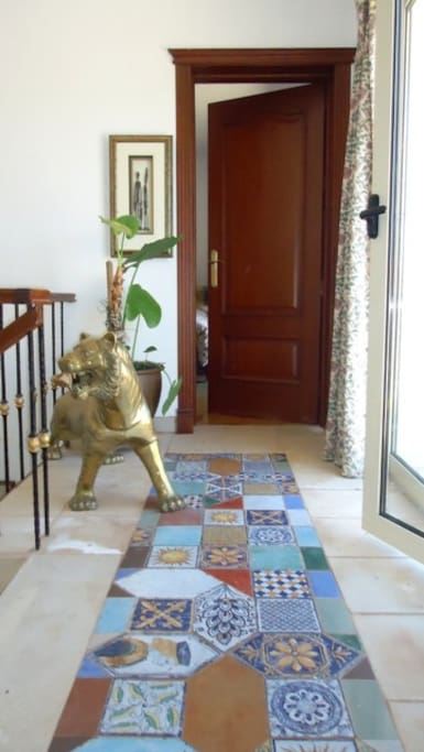 The door to your room, the tiger will look stand guard