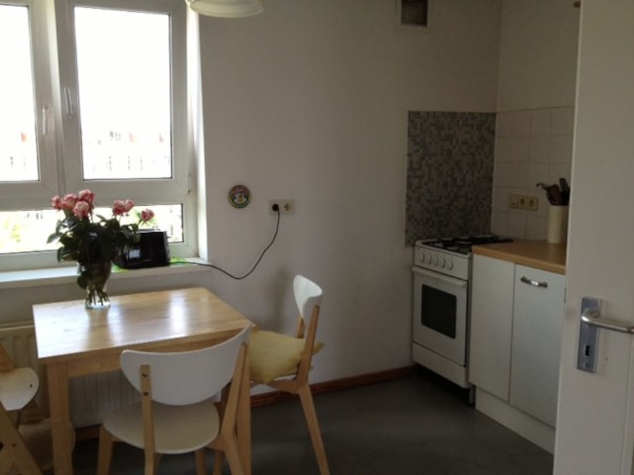 More than adequate kitchen with views to the sunset, can be open or closed to the main living area.