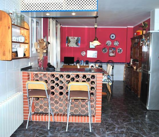 Vista de la cocina donde desayunaréis