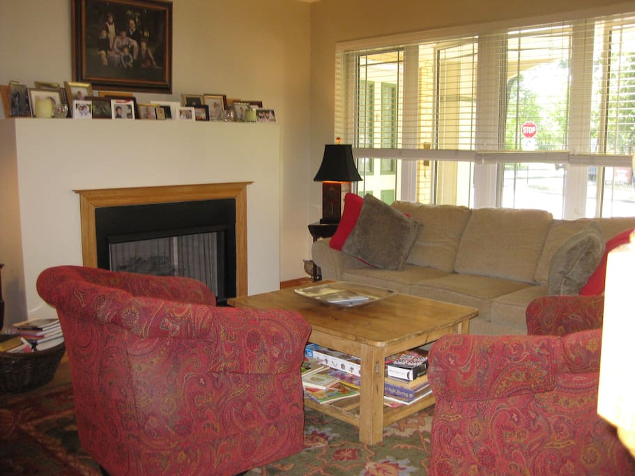 Living area is at street level with private entrance to outside..  Home has three hd tvs and full-house internet.