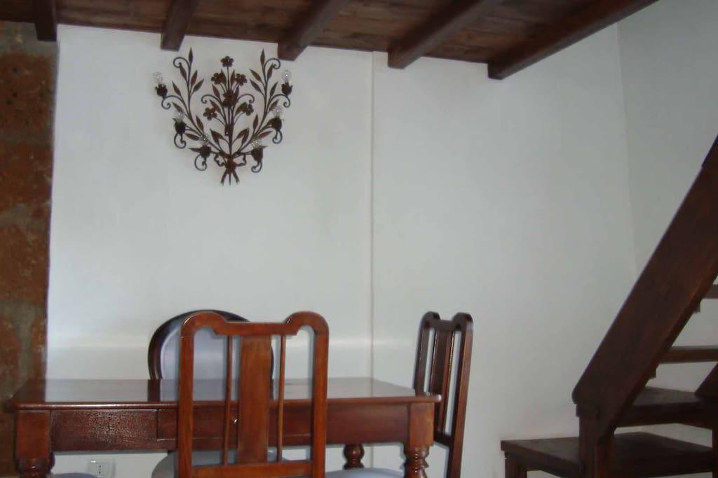 corner of dining area