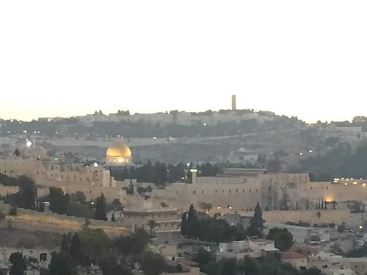 Jerusalem of Gold: Abu Tor Oasis (Pet-friendly)