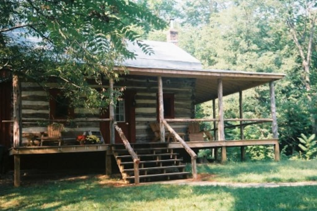 Unique Log Cabin In Private Glen Cabins For Rent In