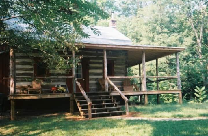 Unique Log Cabin in Private Glen!
