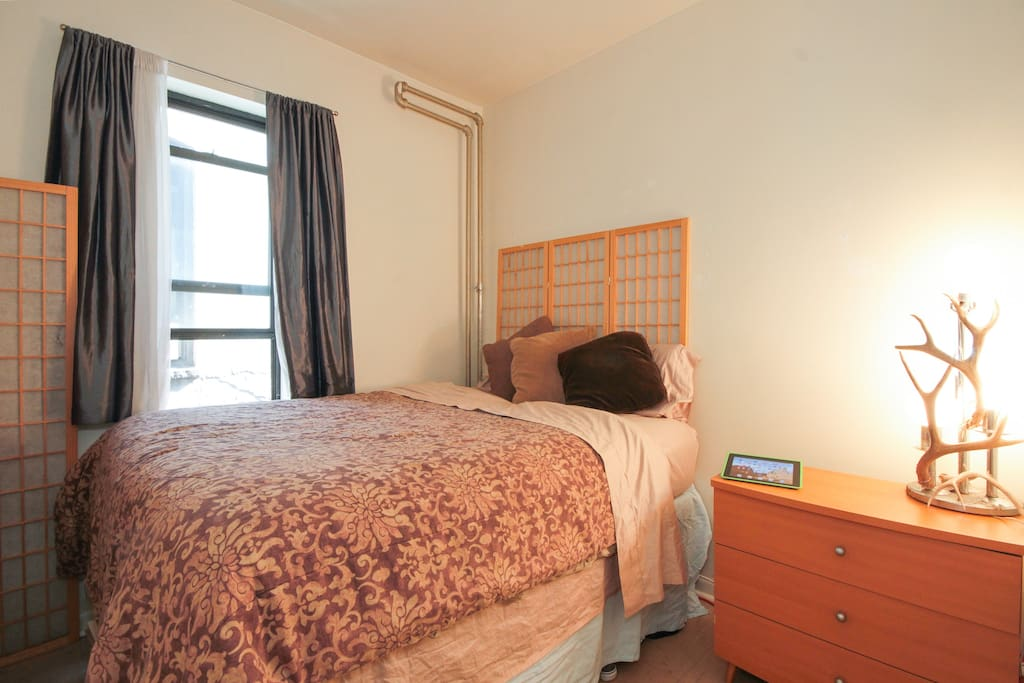 Imagine yourself here. On a comfortable bed that will leave you well rested