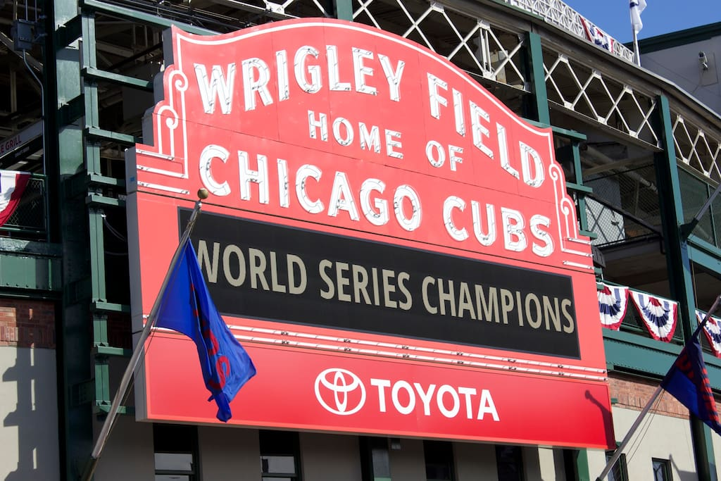 cubs within 1 and a half miles easy to get to by bus or train