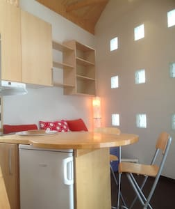 Charming modern studio with loft - Bærum