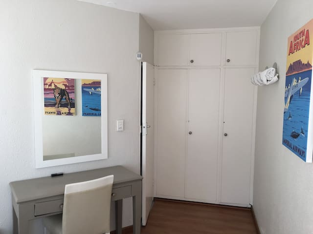 Ample cupboard space in both bedrooms