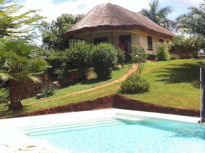 Huis met uitzicht  over de Nile.