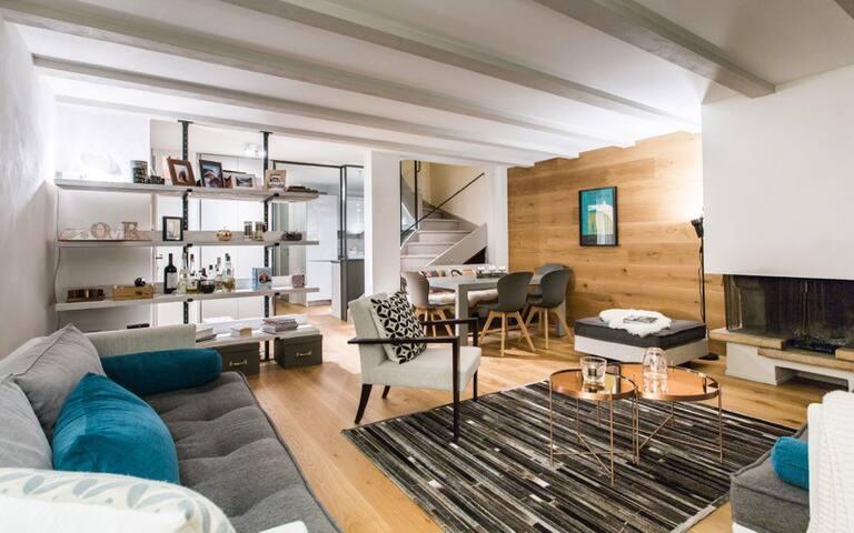Appartement cosy à la montage, avec vue et piscine