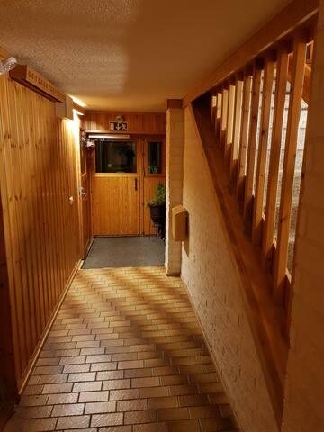 Hallway leading outside