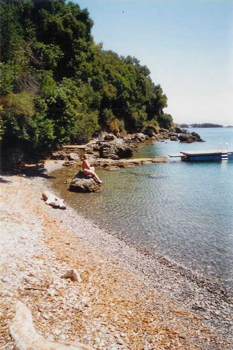 clear water at the provate beach