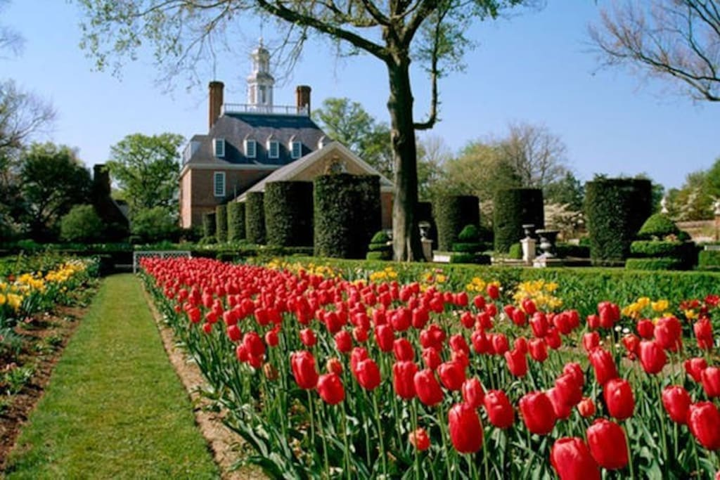 Spring time is a beautiful time to visit Williamsburg!
