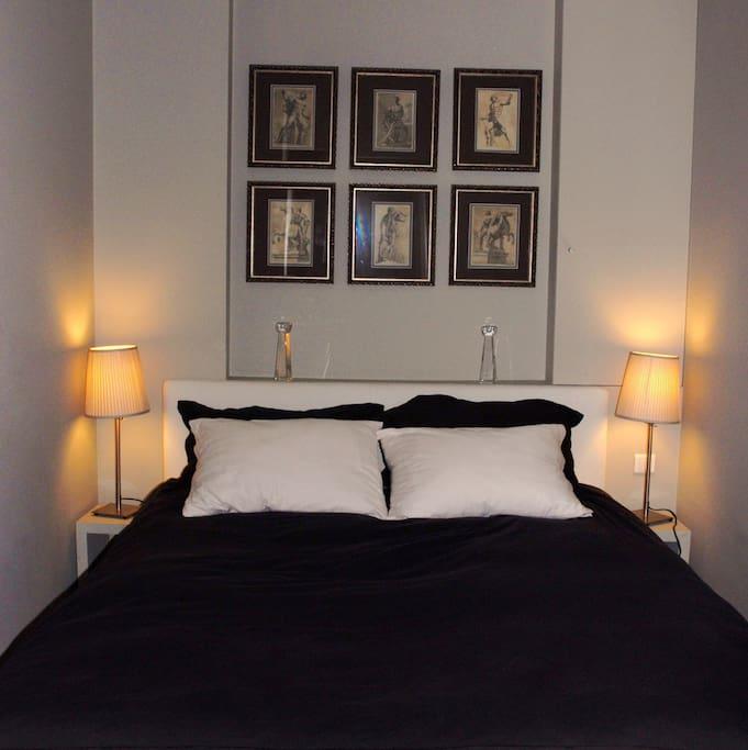 Bedroom - the bed is queen (160cm wide) sized