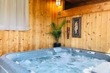 Shared space: hot tub