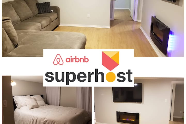 ♥Private☆Central 2 bed basement suite♥