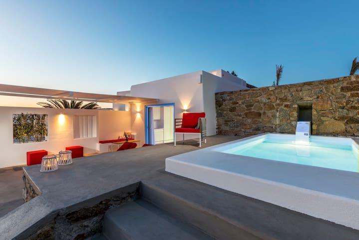 O Lofos - Chora Villa in Agios Stefanos w/seaview - Tourlos