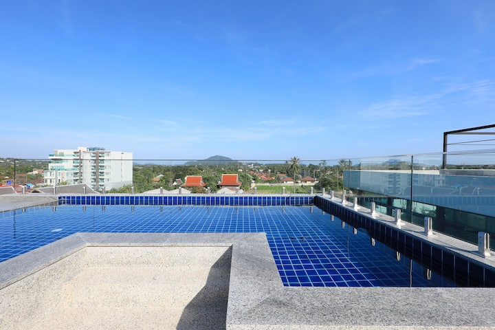 Cozy studio in New Apart-hotel, Pool on the roof ❤️ NaiHarn Beach (15/245)