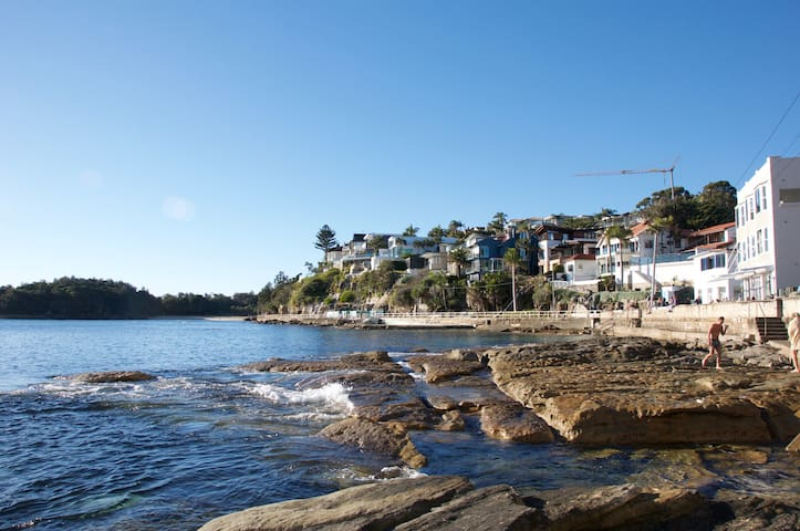 The marine park in front of the studio which has amazing snorkelling and a point break for surfing