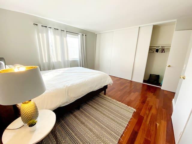 master bedroom with huge closet