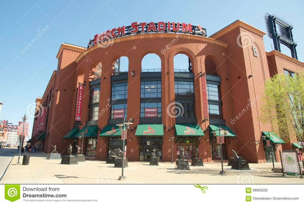 Busch Stadium - Cardinal baseball & Concerts are a 10-minute walk.