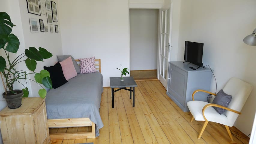 Flat with balcony, 1st breakf, wifi, priv parking