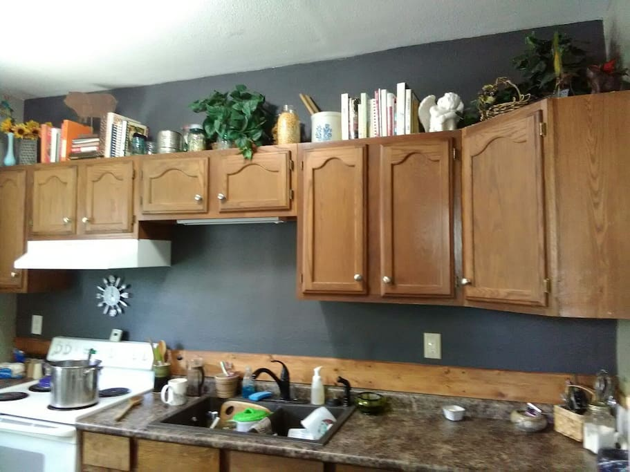 Newly painted kitchen. still working on the finishing touches.  More photos coming soon.