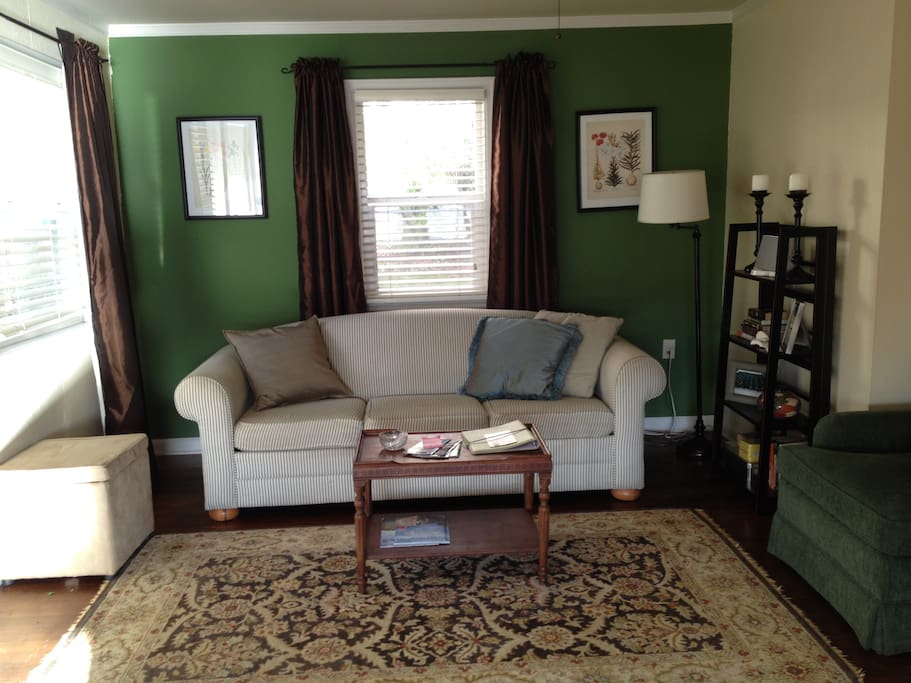 Living Room with Queen pull-out sleeper sofa