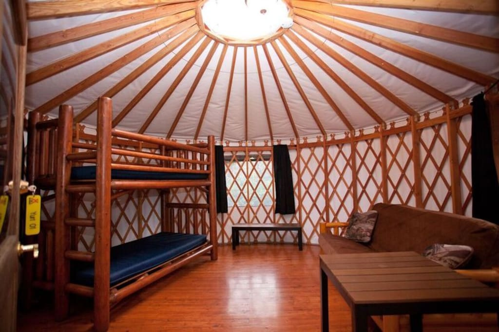 An inside look at the Yurt