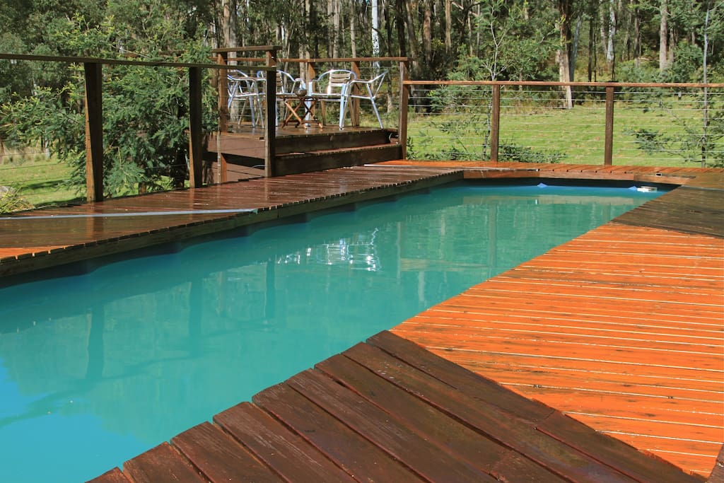 Solar heated lap pool