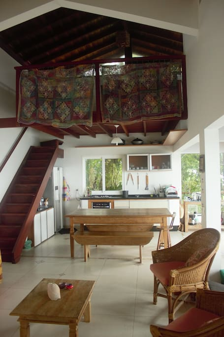 Sala de estar/jantar e cozinha