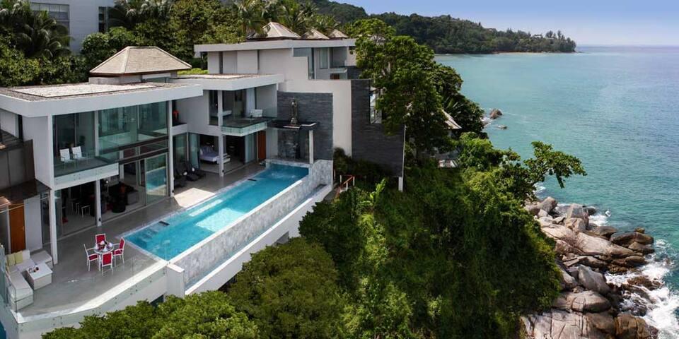 Luxury Ocean Front 5-6 Bedroom Villa Infinity Pool