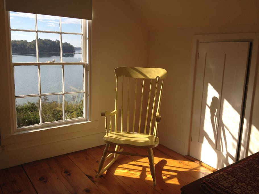 Rocking chair in guest room.
