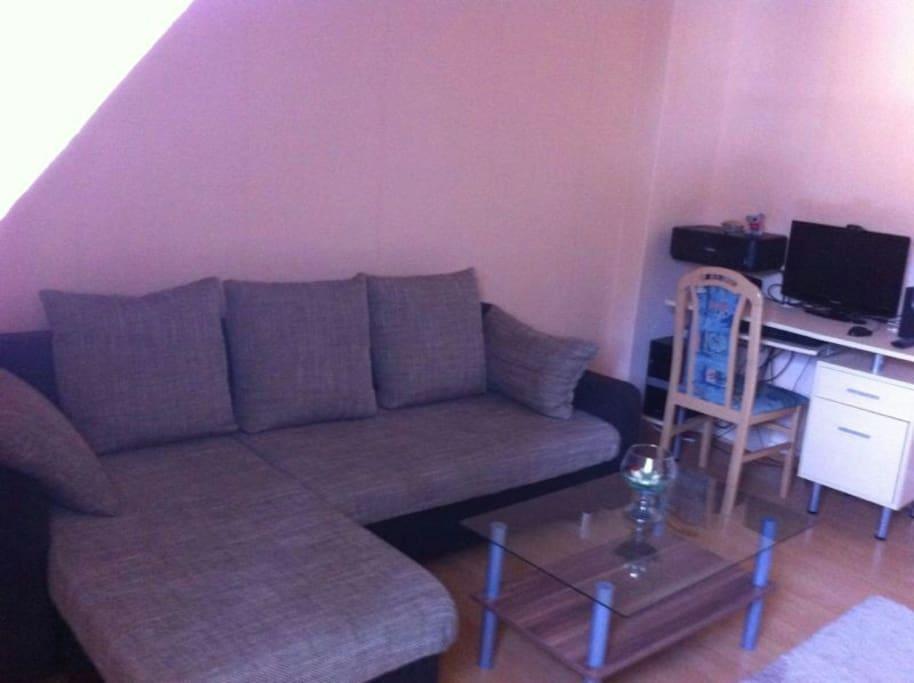 Couch und pc ecke