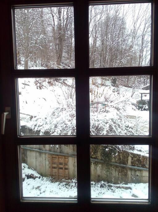 Aussicht vom Fenster