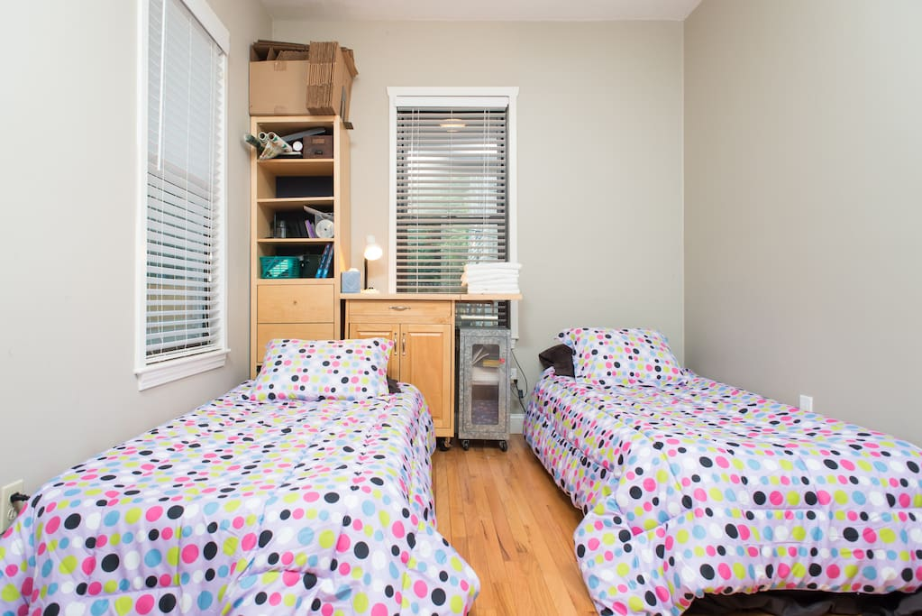 Room 2 - This room now has bunk beds and an air mattress for a third guest if needed.