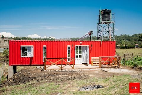 The Red Container-Off Grid