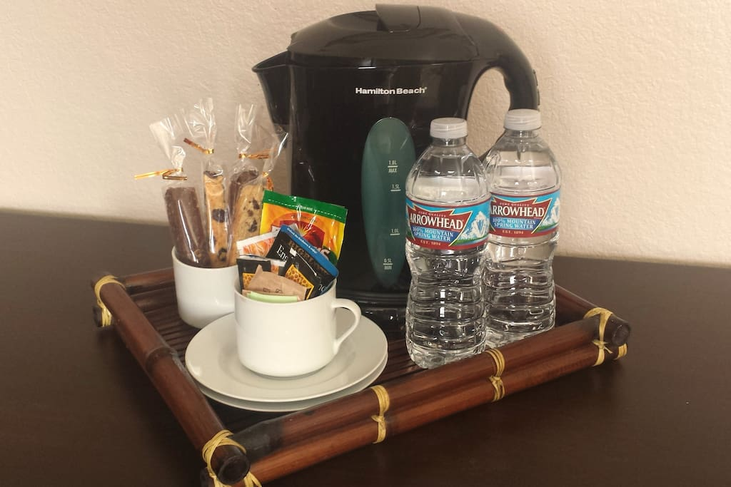 Enjoy in-room refreshments at your leisure.