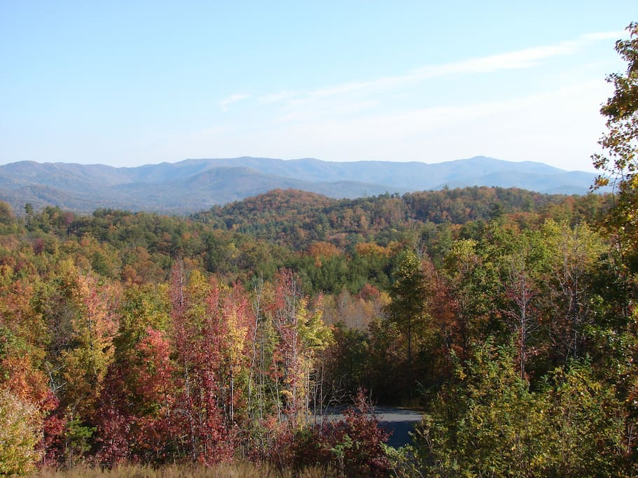 View of South Mountains from back deck