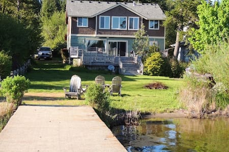 Large Lake Front Home With Private Dock - Kayaks - Shelton - House - 0